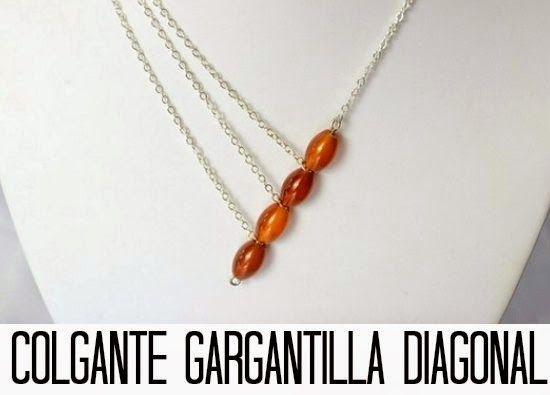 diy Gargantilla con Colgante en diagonal - enrHedando