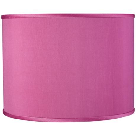 Radiant Orchid Faux Silk Lamp Shade 13.5x13.5x10 (Spider)