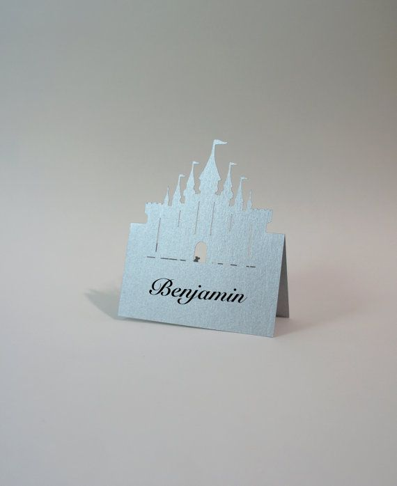 Great princess castle place cards, could suit a magical winter wonderland wedding