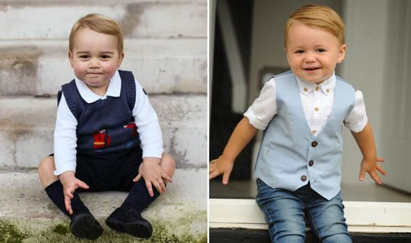 A woman came up to me said 'Isn't he lovely, he looks just like Prince George' Kelly Bentley