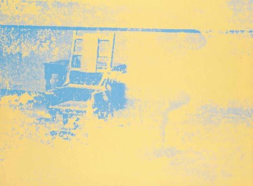 'Electric Chair', huile de Andy Warhol (1928-1987, United States)