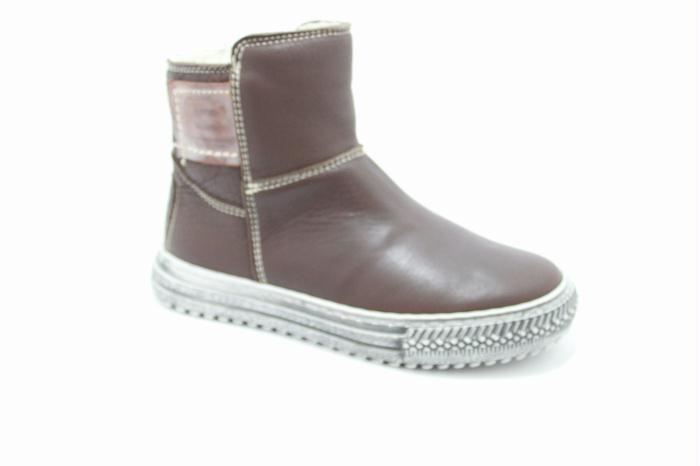 Kinderschoenen : Cole bounce restore Half high boot in dark brown calfskin.. Scheepskin inside