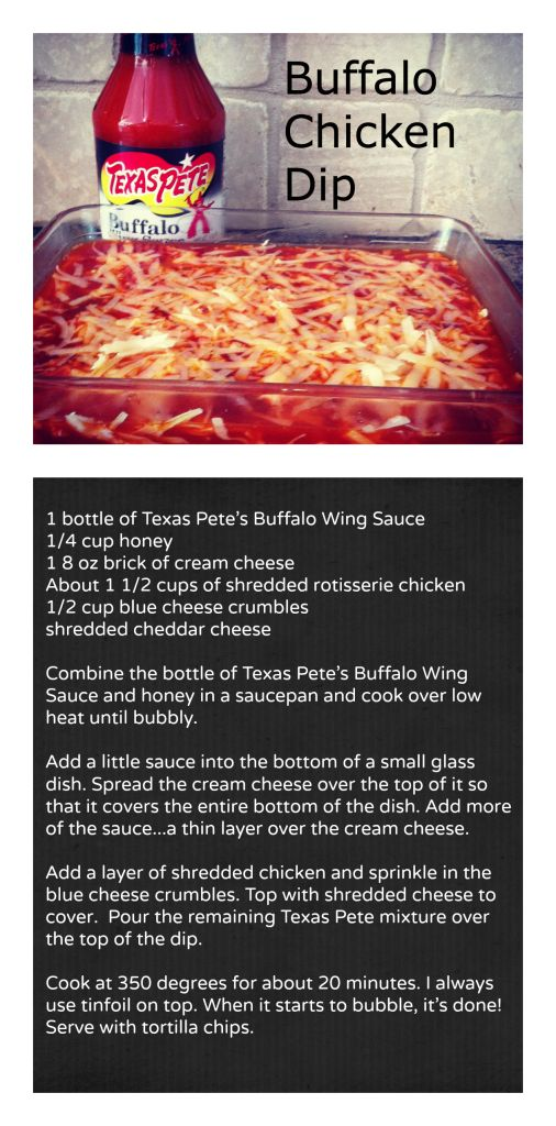 Buffalo Chicken Dip With Texas Pete S Buffalo Wing Sauce Appetizers