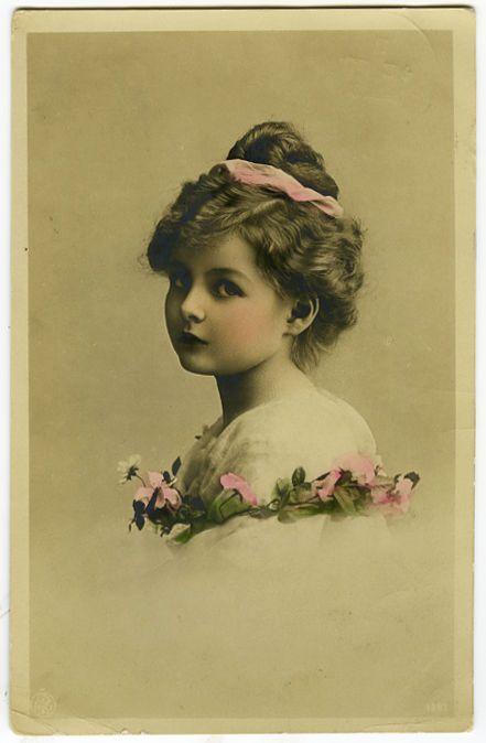 C 1911 Vintage Children Child Pretty Little Girl Vintage Antique Photo Postcard | eBay