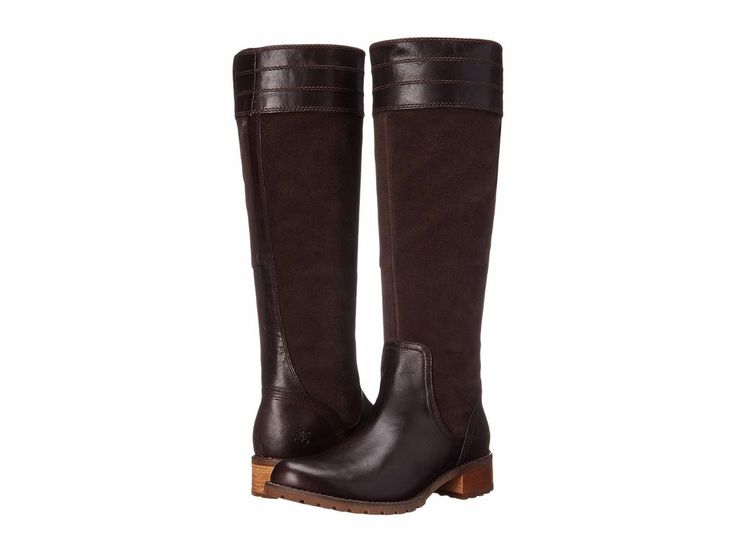 TIMBERLAND Sale Bethel Heights Medium Shaft All Fit Tall Brown Leather Boots 7 #Timberland #KneeHighBoots