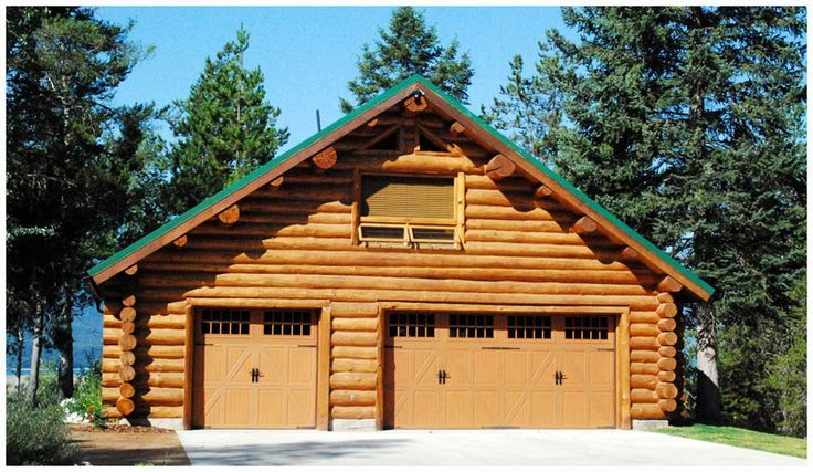 47 best log cabin love images on pinterest log cabin for Log cabin garage
