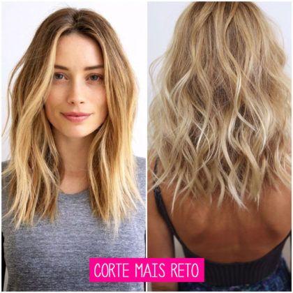 cabelos messy hair corte mais reto liso e ondulado