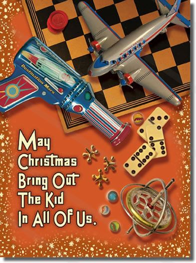 8 best Vintage Toys Christmas Cards images on Pinterest | Retro ...