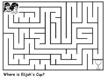 Free Printable Activities Elijahs Cup Maze