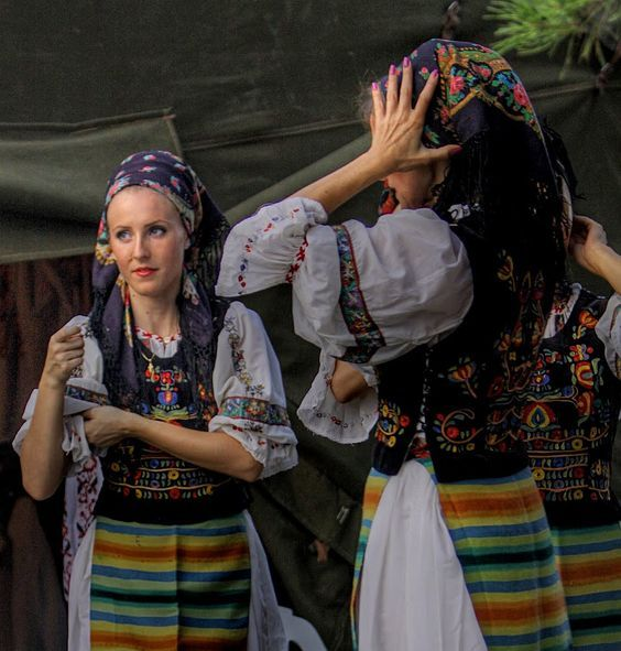 Romanian traditional costumes.  Romania: