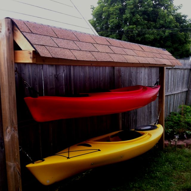 Kayak storage Don'ts: Don't hang you kayak by it's carrying handles, they are not designed for long term weight and could fail resulting in damage to your boat and a voided warranty!