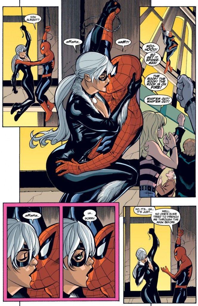 Black Cat and Spider-Man in Spider-Man/Black Cat: The Evil That Men Do