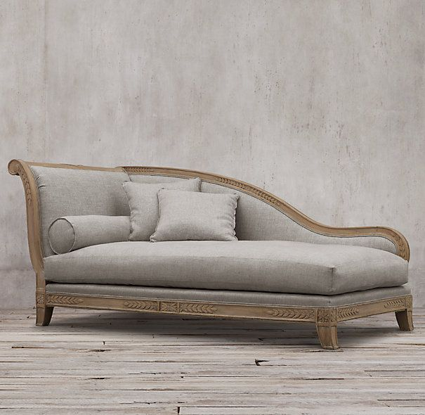 Traditional 19th c french empire fainting upholstered for Chaise furniture toronto