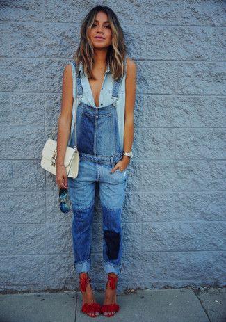 die 25 besten jeans latzhose damen ideen auf pinterest jeans overall damen denim overall. Black Bedroom Furniture Sets. Home Design Ideas