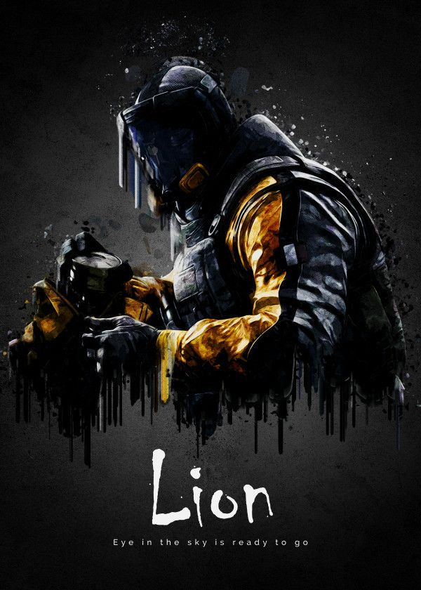 Lion By Traxim Design Metal Posters Rainbow Six Siege Poster