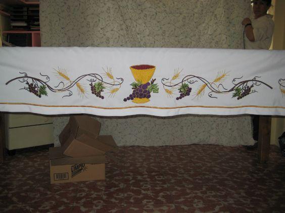 Resultado de imagen de dibujos para manteles de iglesia