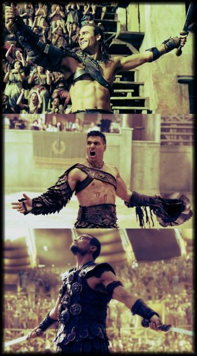 Spartacus Gannicus, Crixus & Spartacus... Gods of the Arena
