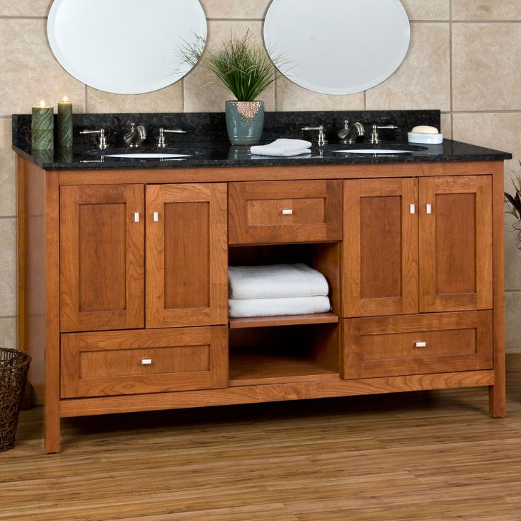 60 Halstead Vanity For Rectangular Undermount Sinks Craftsman Bathroom Vanities And Products