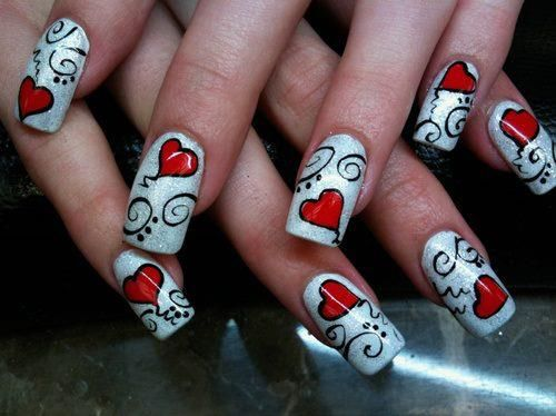 hearts #nail #nails #nailart