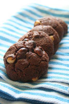 Kifli és levendula: Csokoládés-mogyorós (és nagyon bűnös) keksz