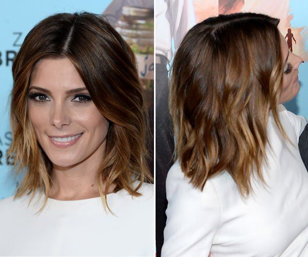 Ashley Greene's Gorgeous Ombre 'Lob' At 'Wish I Was Here' Premiere