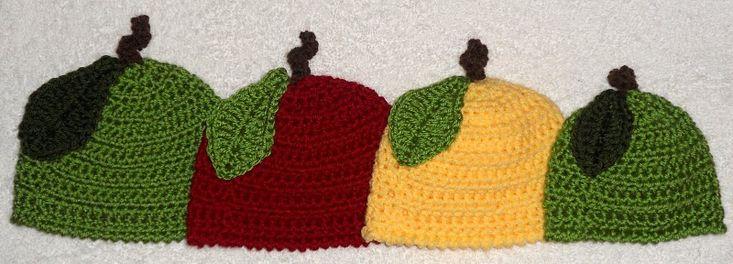 Free Baby Apple Beanie Crochet Pattern
