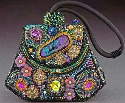 Beaded and embroidered