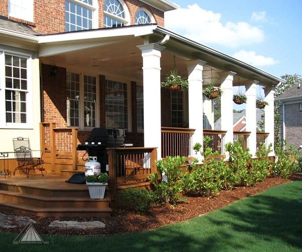 Back porch designs atlanta porches back porches for Covered back porch ideas