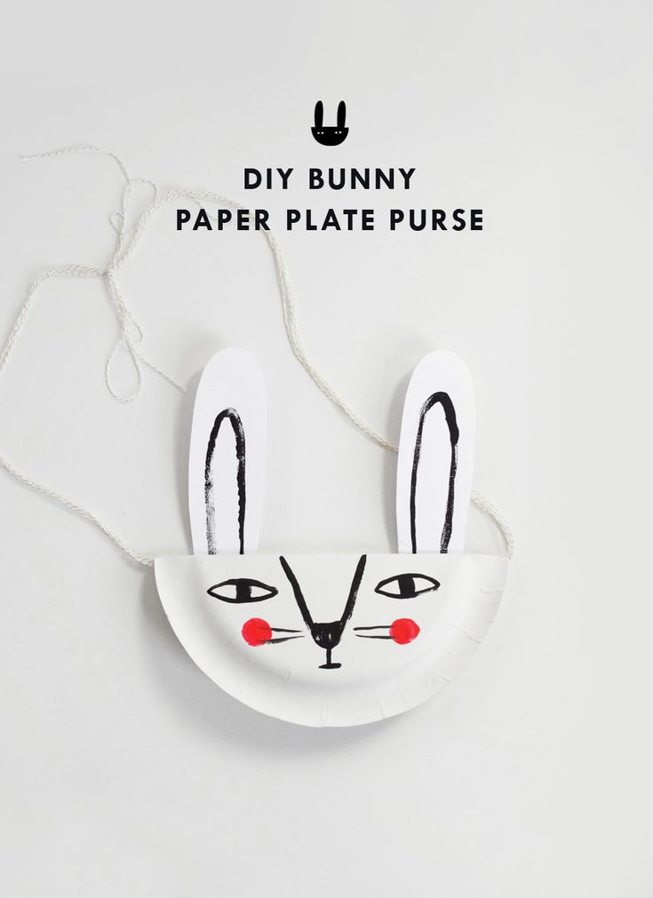 DIY paper plate bunny purse | mer mag