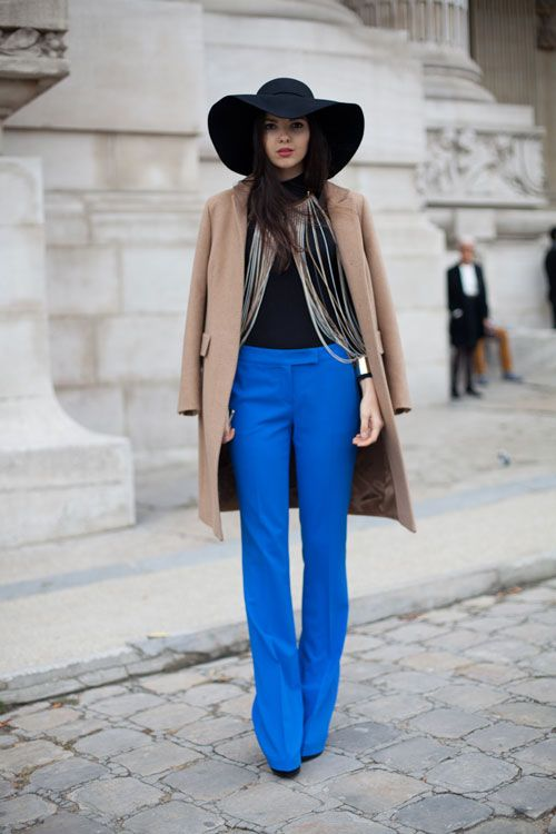 STREET STYLE SPRING 2013: PARIS FASHION WEEK - The elements to this look are simple but the result is all drama.