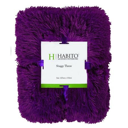 Habito Throw Shaggy Boysenberry 127cm x 152cm