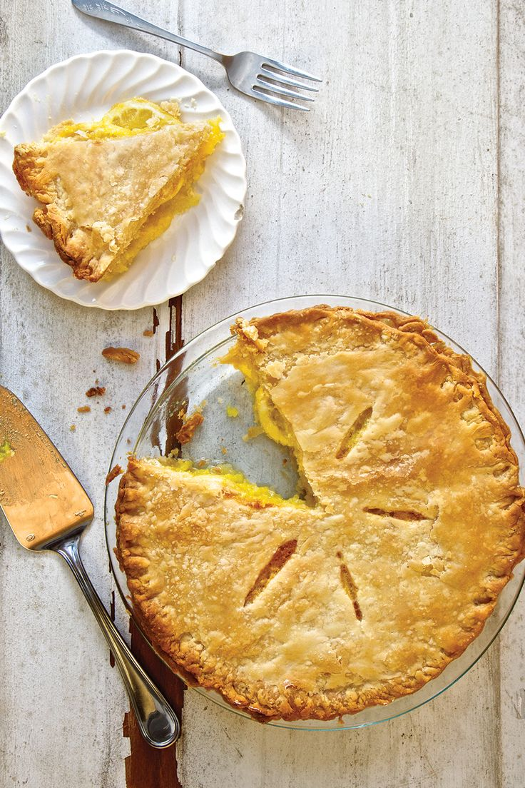 """From SAVEUR Issue #168Shakers, descendants of an 18th-century Christian ascetic movement, believe that when you eat, you should """"shaker your plate""""—finish every last crumb. That's easy to do when you're having a slice of this sweet-tart, sunny pie with its flaky, buttery crust and marmalade-like citrus filling, a specialty of the Ohio branch of the Shaker community. This recipe also appears in the SAVEUR New Classics Cookbook."""