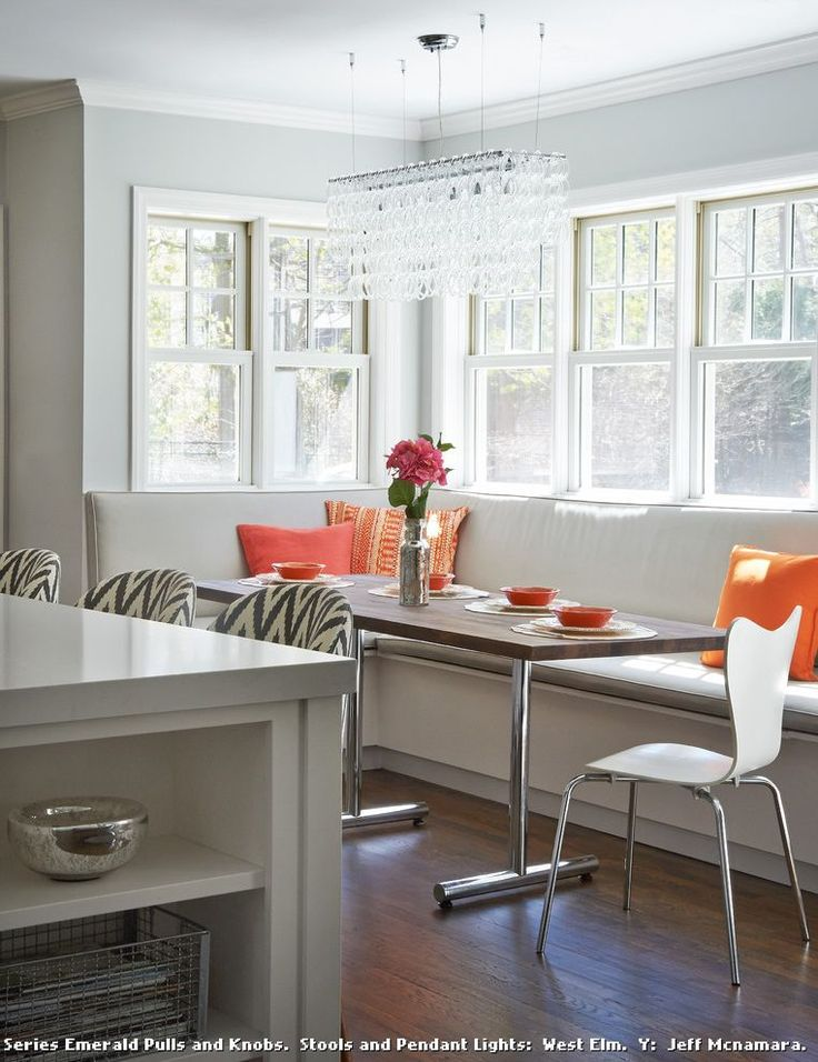 Modern Banquette Seating for Transitional Kitchen and