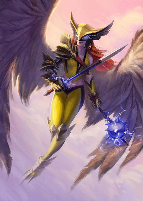 Hawkgirl by Jeff Bellio