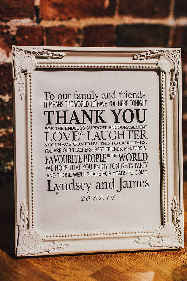 Thank You Sign | Pretty English Wedding | Steve Gerrard Photography | Bridal Musings Wedding Blog