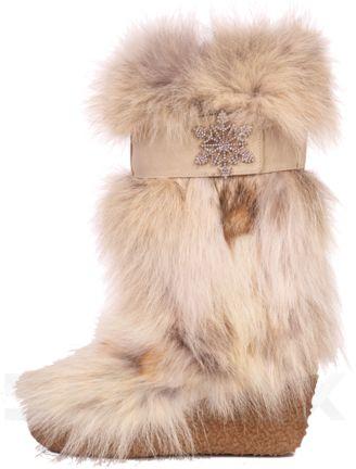 Diavolezza Coyote Luxusni zimní boty z pravé kožešiny Diavolezza Luxury winter fur boots Diavolezza