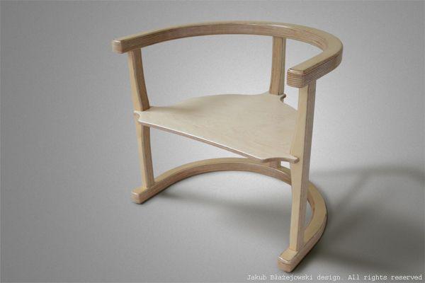 Chair for child. Jakub Blazejowski design.