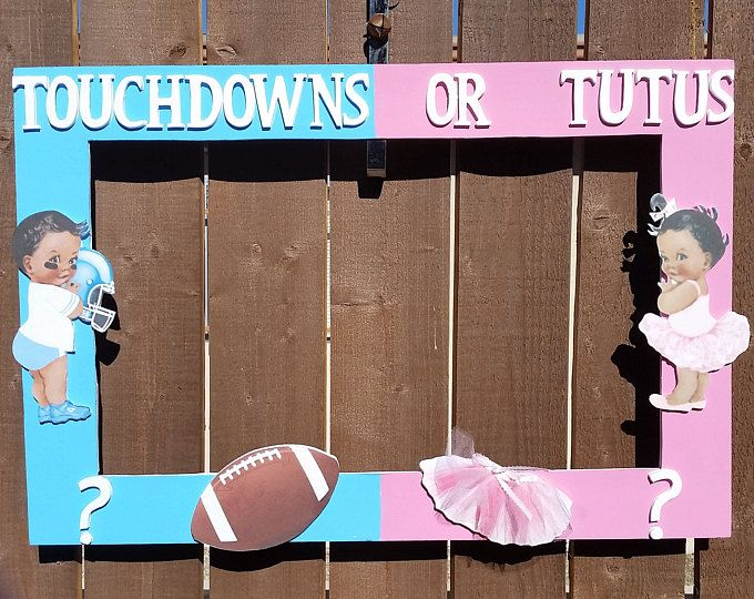 Football Gender Reveal Invitation Touchdowns Or Tutus Etsy Baby Gender Reveal Party Gender Reveal Decorations Tutus Gender Reveal