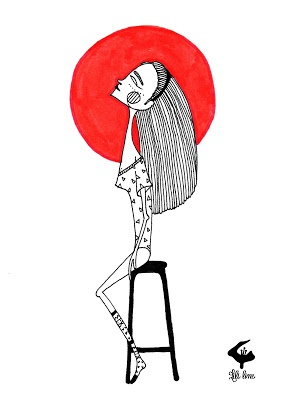 """DRAWING ON FRIDAY """"I Love RED"""
