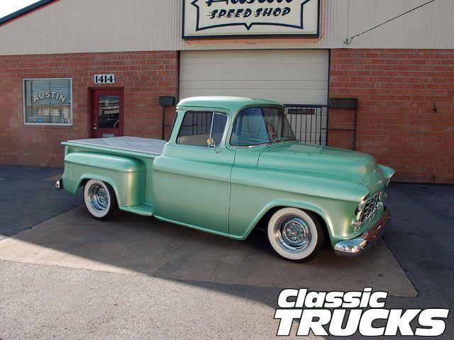 Custom Chevy Trucks >> Mint '55 Chevy 3100 | CUSTOM TRUCKS | Pinterest | Chevy, Chevy pickups and Cars