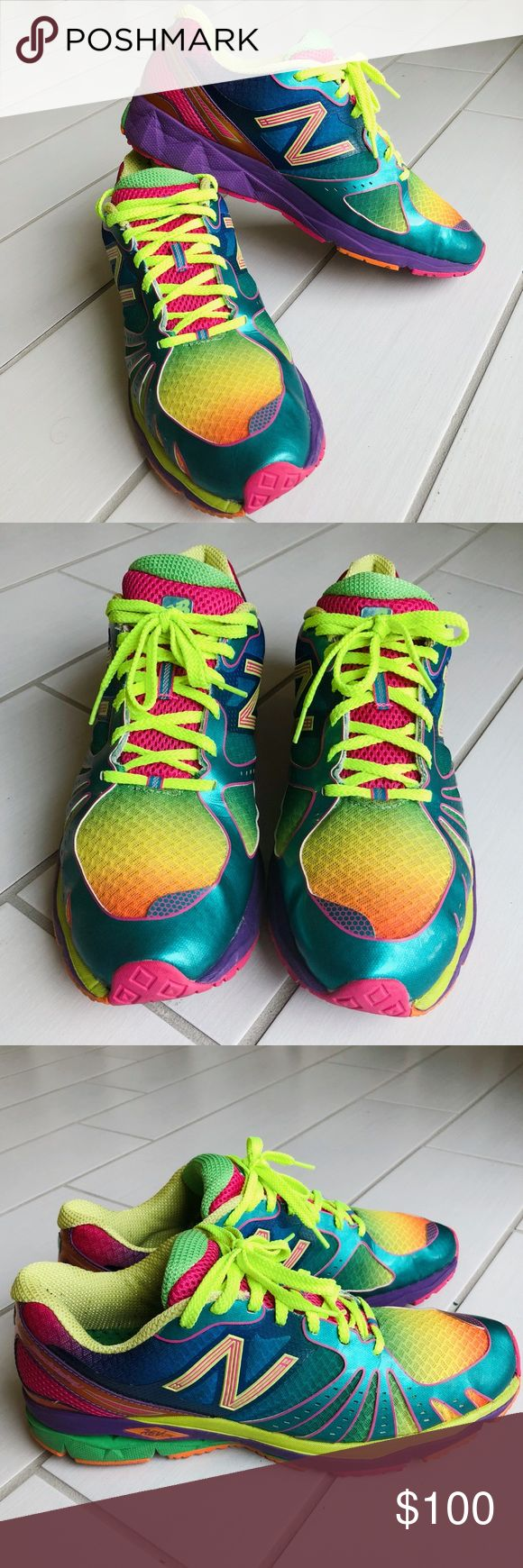 New Balance 890 Revlite Rainbow Sneakers MENS (12) Great condition! Barely worn!! Ask me any questions and make me an offer. 💙 New Balance Shoes Sneakers