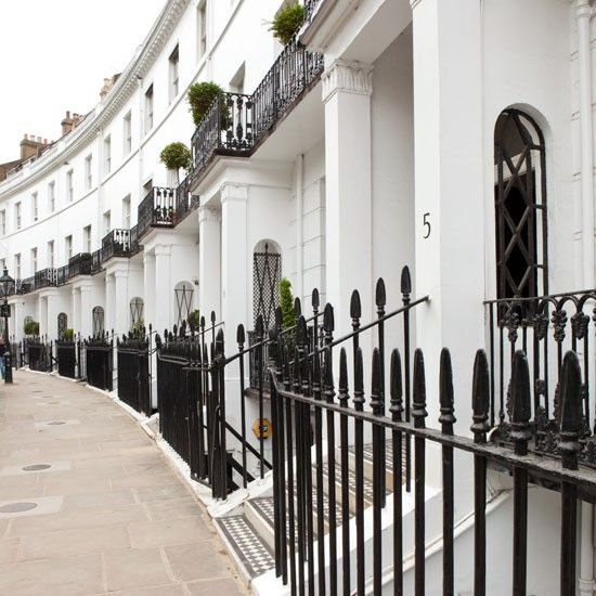 1830's Grade II listed buildings in a London street