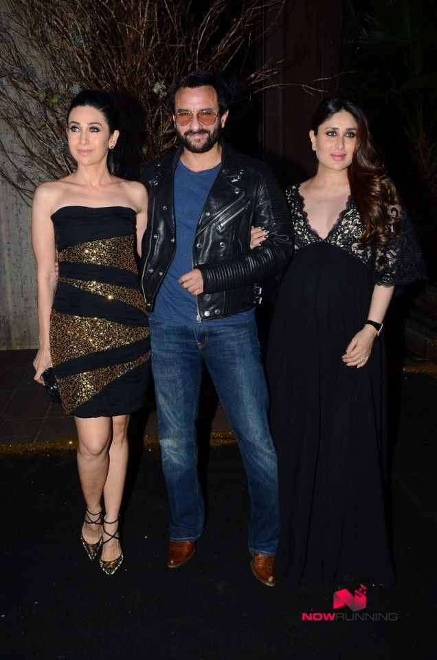 Karisma Kapoor, Saif Ali Khan and Kareena Kapoor Khan grace Manish Malhotra's 50th birthday bash hosted by Kara