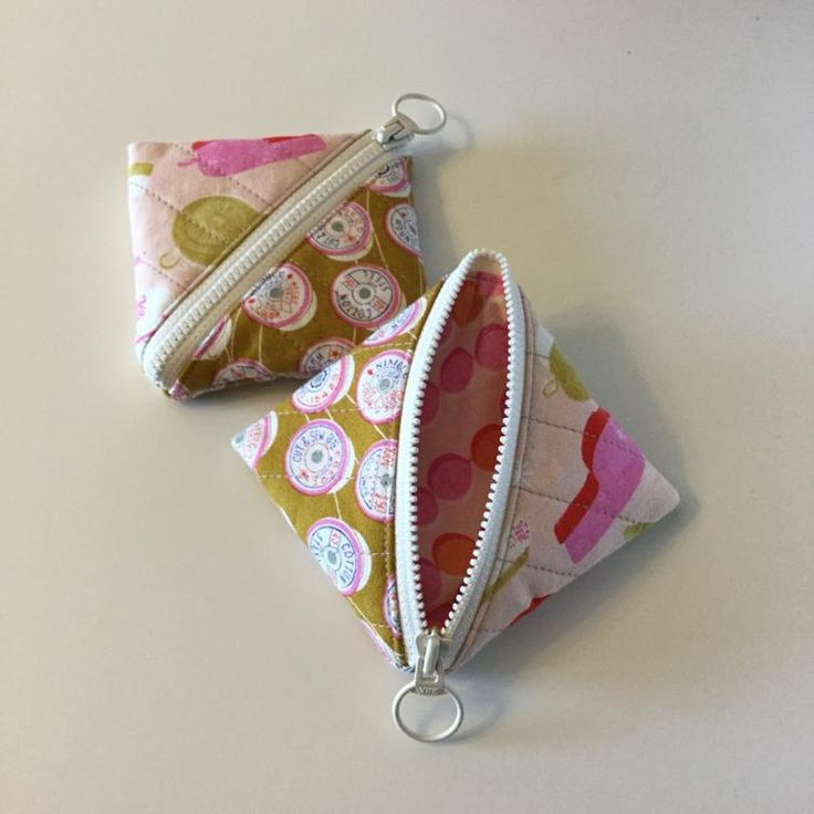 Free Sewing Pattern: Half Square Triangle Pouch                                                                                                                                                                                 More