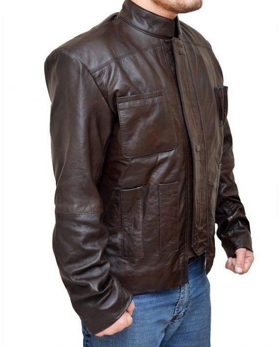 Star Wars Force Awakens Harrison Ford Leather Jacket