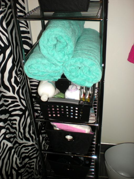 Bathroom shelf. Makes so much sense. Put next to mirror so a quick makeup touch doesn't require going to hall bathroom