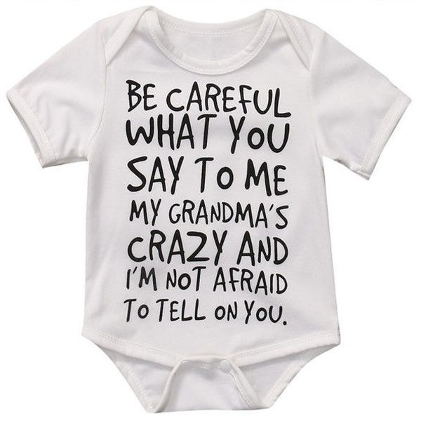 Tops Newborn Baby Boy Girl Romper Letter Print Bodysuit Clothes Sunsuit Outfits – Products