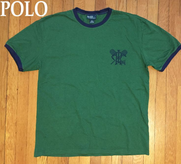 VTG Polo Ralph Lauren RLC Ringer T-Shirt rare tennis club racquet sport RARE! | Clothing, Shoes & Accessories, Men's Clothing, T-Shirts | eBay!