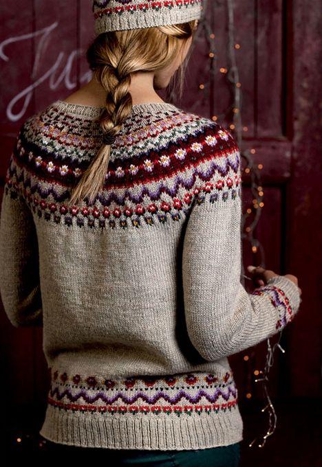 Strik selv: Norsk sweater og hue med mønster - Hendes Verden