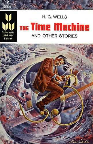 The Time Machine, H. G. Wells (1963 edition), cover by Nino Carbe